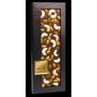 Горький шоколад. Орехи кешью, фисташки Бронте, обжаренный арахис с медом